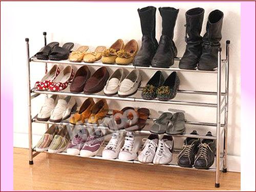 里昂堆叠式四层鞋架