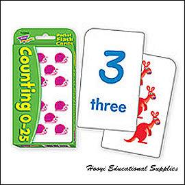 ~全彩印刷 T~23002~Counting 0~25 Pocket Flash Card