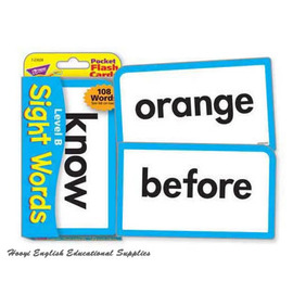 ~全彩印刷T~23028~Sight Words B Pocket Flash Cards