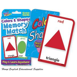 ~全彩印刷 T~24007~Colors and Shapes Memory Match