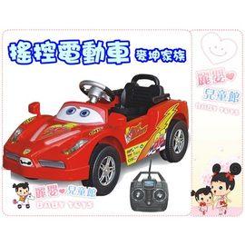 麗嬰兒童玩具館~超酷閃電麥坤家族-紅色法拉利小朋友乘座電動遙控電動車99816F