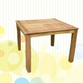 100cm方桌 P020-092T (木桌子.原木桌.庭院傢俱.便宜)