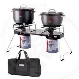 瑞典 PRIMUS 爐具套餐組 最輕巧Njord 雙口爐(瓦斯爐)可摺疊爐腳.可調整火力# 229095 (含收納袋)