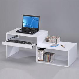 邏爵* LS-08 DIY和室伸縮電腦桌 書桌 移動桌 輕巧桌 置物架 床頭桌 台灣製造~* DIY