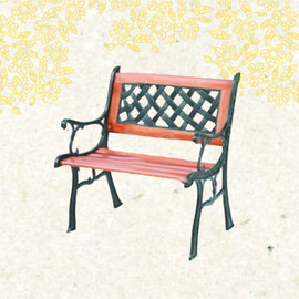 編織單人椅 P020-950 (戶外椅.等候椅.庭院休閒椅.庭院傢俱.便宜)