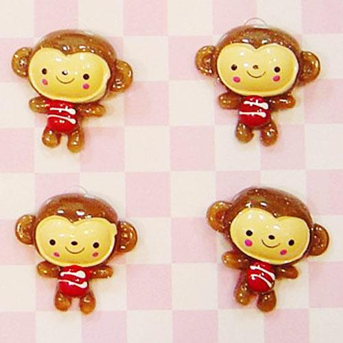 可爱红衣小猴子立体造型胸针(md09)