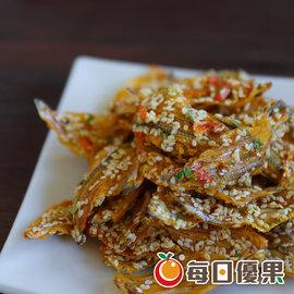 ~每日優果食品~櫻花蝦黃金魚酥,香酥的黃金魚,佐以砂糖、麥芽、芝麻、櫻花蝦調味,香酥好吃!