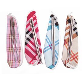蘇格蘭紋 不鏽鋼環保筷組