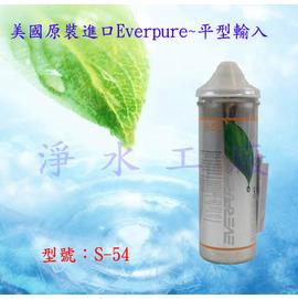 《免運費》《贈餘氯水質測試液》《附濾心到期警示器》美國原裝進口Everpure真品平行輸入..濾心型號S-54/S54..適用QL3-S54