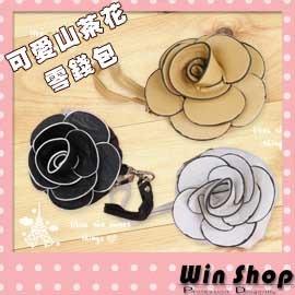 【winshop】日韓春夏,新款山茶花零錢包/玫瑰/手拿包/手機袋,立體山茶花造型,今夏引人注目的焦點