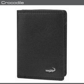 Crocodile 鱷魚 皮夾  名片夾 0103~56581 黑色 自然風格素面軟皮名片
