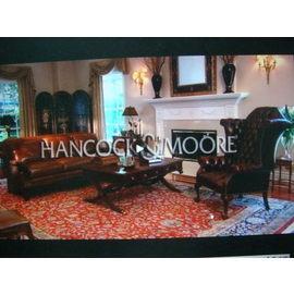 真皮沙發 美國 頂極工藝 Hancock  Moore ^(漢考克~摩爾^) 喬治三世款