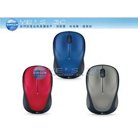 ~YEs 3C~ Logitech 羅技 M235 無線光學滑鼠^(灰 紅 藍^) 全年充