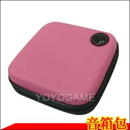 ~歡慶八八節 特賣單品~MP3 iPod 手機 隨身聽 專用 音箱包 隨身音箱 行動喇叭-方塊桃紅