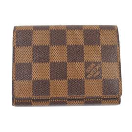 【8.5成新】Louis Vuitton LV N62920 Damier 棋盤格紋名片夾現金價$3,800