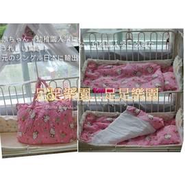 足足樂園^m^ 57017 Hello Kitty 日本限定販售版床品七件套 蓋被床墊枕頭手提帶 幼稚園適用