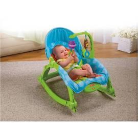 Fisher-Price費雪 可愛動物可攜式兩用安撫躺椅-再贈:貝恩嬰兒防蚊噴液L*1罐 **本月超低特惠價**
