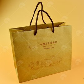 【艾佳】牛皮紙鳳梨酥包裝盒手提袋/個