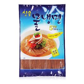 ~易購樂~韓國 平壤式涼麵^(冷麵^)5人份~韓國人最愛吃料理~內有調味包,酸酸甜甜挺開胃