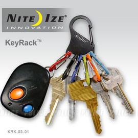 ^~ NITE IZE ^~ KEYRACK 鑰匙圈 KRK~03~01 黑色