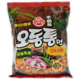 【吉嘉食品】韓國進口-不倒翁拉麵(海鮮烏龍、泡菜)120公克27元