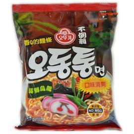 【吉嘉食品】韓國進口-不倒翁拉麵(海鮮烏龍[缺]、泡菜)120公克27元