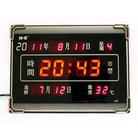 時尚精緻 大面板LED數碼多功能萬年曆電子鐘 HC-005~桌上/壁掛兩用!◇/多功能數位電子時鐘/萬年曆時鐘電子鬧鐘/LED電子萬年曆/數碼鐘