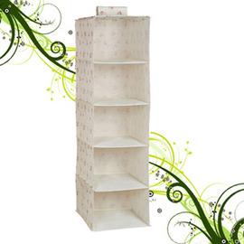 五層置物吊櫃105x34x30cm(儲物櫃.收納櫃子.衣物櫃.不織布收納架.收納傢俱.便宜) C015-7186