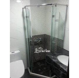 一太五角型無框淋浴拉門  依尺寸報價 詢價 施工丈量