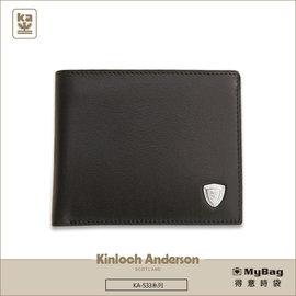 Kinloch Anderson 金安德森 皮夾  短夾 KA~53302 黑色 紳士男夾