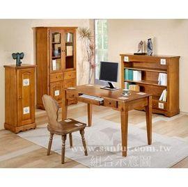 ^~ ^~上福 ^~^~彩繪磁磚全實木.歐風大書桌.電腦桌.書櫃.置物櫃.低書櫃.展示櫃.