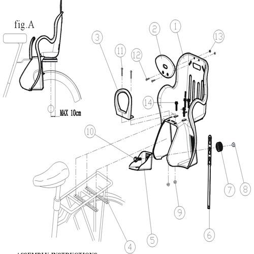 omax自行车后座儿童安全座椅