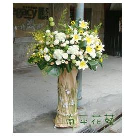 南平花艺_HF011 音乐演出走秀主题花柱