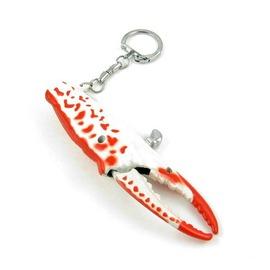 螃蟹腳 鑰匙圈打火機 可充瓦斯重復  收藏飾品 長度116mm 紅色