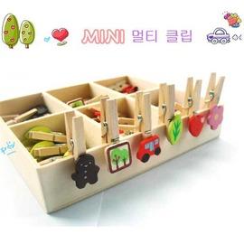 超Q mini木盒裝6格留言夾~48個裝+木盒!◇/袋夾/書籤夾/小夾子/零食夾/小木夾