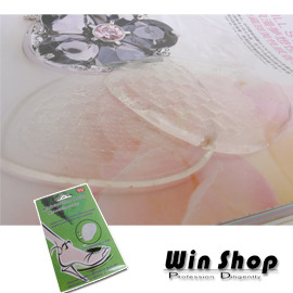 【winshop】矽膠按摩鞋墊/矽膠果凍鞋墊/止滑鞋墊,減震加顆粒按摩,一套2片,有效改善鞋過大的困擾