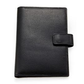 PN004~51護照記事本2用夾^(黑珠編紋^)