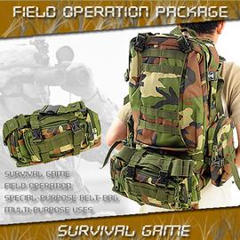 多功能野戰組合後背包 C99-0445(迷彩包包.生存遊戲.後背包包.運動包.背包包.便宜.推薦哪裡買)