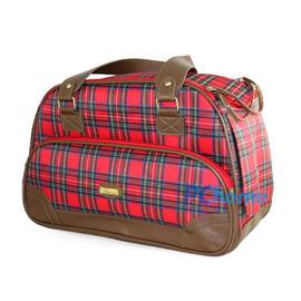 ^(~新品入荷 下殺45折^) 蘇格蘭都會風寵物包^(紅色^) ~適5kg 寵物~