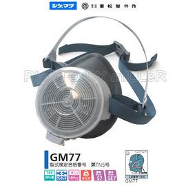 ~米勒線上 ~ 重松 GM~77ME 單罐式半面罩防毒面具 有機粉塵罐內不附 需另外加購