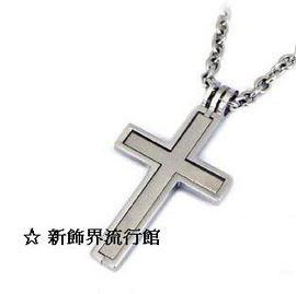 ~新飾界 館~316L西德白鋼項鍊~立體十字鏤空系列^(小^)~單鍊價~ ◤附 拭銀布 ◢