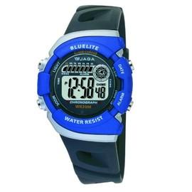 ^~時間伙伴^~^~免 ^~ JAGA捷卡 多  休閒 電子錶^(藍色^)^~M367