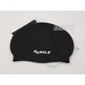 ^~日光部屋^~ Nile ^( 貨^) NAR~0411N~BLK 舒適矽膠泳帽^( ^