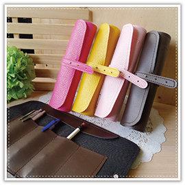 【winshop】 B0945 韓系皮質捲式筆袋/文具袋/筆袋/化妝袋/鉛筆盒/收納袋/化妝包/袋中袋