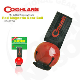 【Coghlans -加拿大】可消音熊鈴 Colored Bear Bell with Magnetic Silencer.警告動物.鈴鐺 0756-(紅)