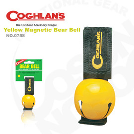 【Coghlans -加拿大】可消音熊鈴 Colored Bear Bell with Magnetic Silencer.警告動物.鈴鐺 0758-(黃)
