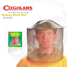【Coghlans -加拿大】豪華防蚊頭罩(捕蜂帽 防蜂 防蚊蟲) 防蚊帽 Deluxe Fine Mesh Mosquito Head Net.超輕量化、透氣.捕蜂網帽 9360
