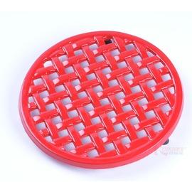 RV-IRON 007琺瑯格子紅色隔熱墊(鍋墊)荷蘭鍋架 鑄鐵鍋具 (20CM長)