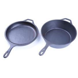 RV-IRON 503A鑄鐵鍋10吋COMBO 萬用鍋 平底鍋 荷蘭鍋鑄鐵平底煎鍋