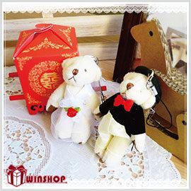 【winshop】可愛婚禮小熊(一對),婚禮小物/結婚/情人/聖誕禮,送人或當擺飾都適宜!!